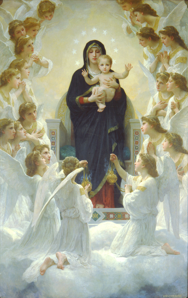 189582-Bouguereau The Virgin With Angels