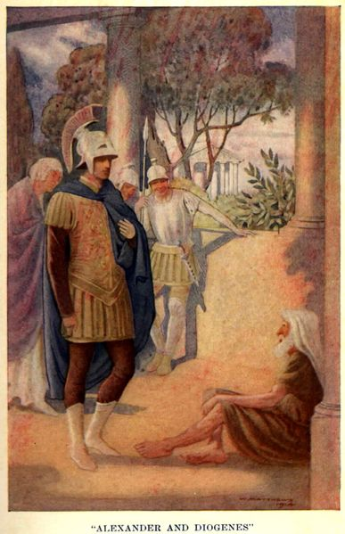 387px-Alexander visits Diogenes at Corinth by W. Matthews 1914 1