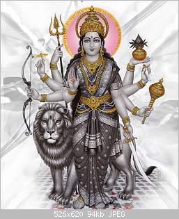 Durga-with-lion