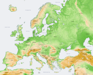 300px-Europe topography map en