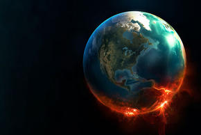 Earth Implosion Black Background 0