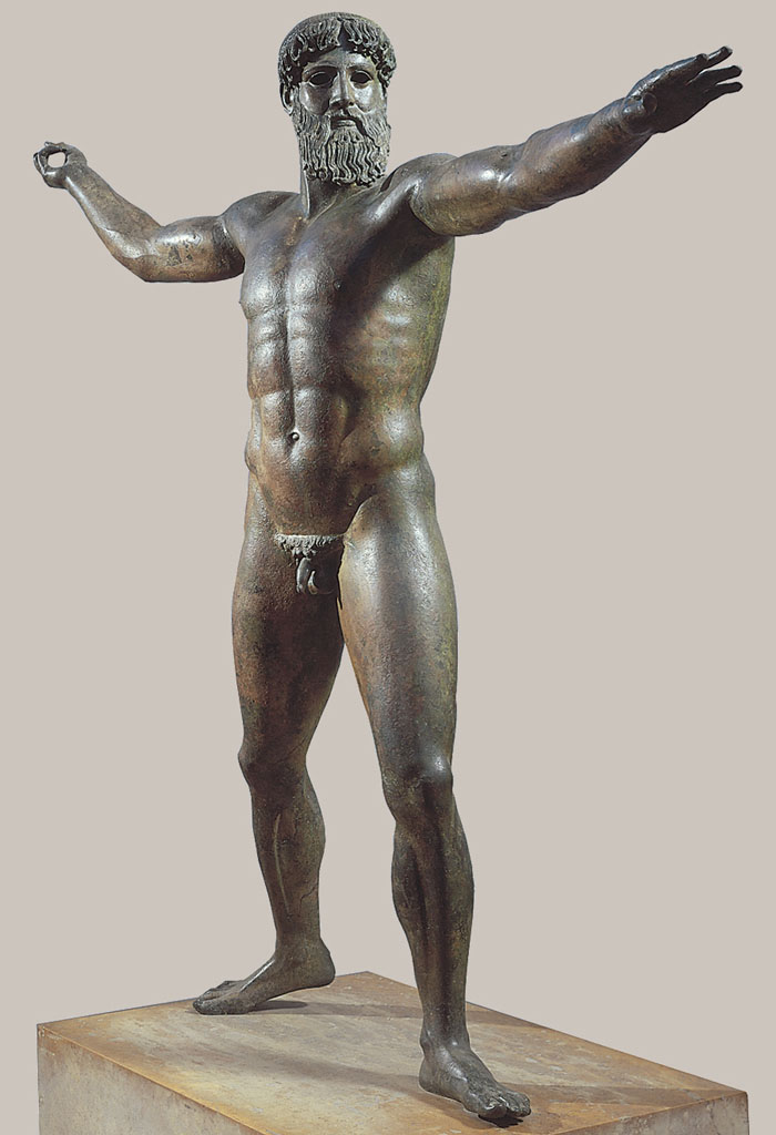 Zeus or Poseidon from the sea off Cape Artemision Greece ca. 460-450 BCE